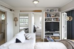 small beach house - love the colour palette