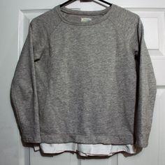 EUC Girl's size 12 Crewcuts light gray sweatshirt w/ white ruffles FREE SHIPPING #Crewcuts #Everyday