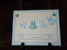 "Baby Boy ""Hello Baby"" handmade cards"