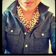 Denim & pearls..yes