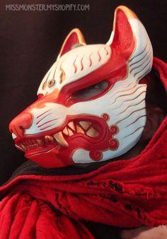 Maschere Kitsune in vendita da missmonster su DeviantArt - Maschere Kitsune in vendita da missmonster su deviantART Best Picture For sheet mask For Your Tas - Kitsune Maske, Deviantart, Character Inspiration, Character Art, Wolf Mask, Japanese Mask, Fu Dog, Art Asiatique, Cool Masks