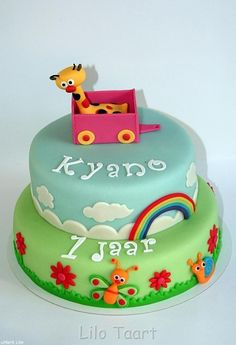 Cake Ideas boy 1 year old | baby tv for the birthday of a 1 year old the giraffe was his favorite