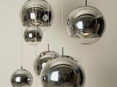 Silver shade mirror ball Pendant Light #40W #ceiling-light #Contemporary