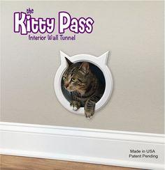 The Kitty Pass Wall entry cat door, Cat Door Tunnel