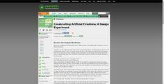 Gamasutra - Constructing Artificial Emotions: A Design Experiment