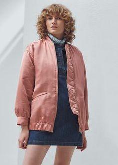 Silky bomber jacket
