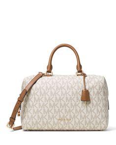 3d21ff28f5f5 MICHAEL MICHAEL KORS Michael Michael Kors Kirby Large Logo Satchel Bag