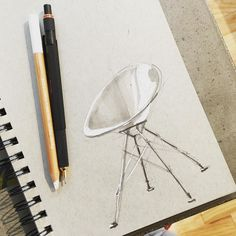 Almost looks like a lunar lander. #sketch #sketches #sketching #sketchaday…