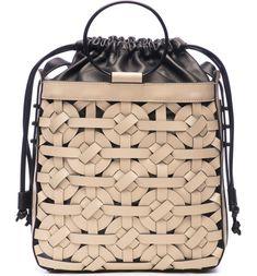 Thacker Kenlee Leather Bucket Bag in Beige Leather Purses, Leather Handbags, Leather Bags Handmade, Leather Design, Small Bags, Purses And Handbags, Fabric Handbags, Luxury Handbags, My Bags