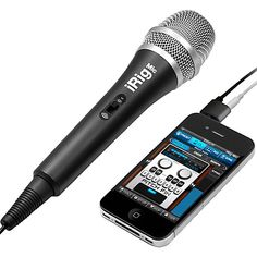 Be like a pro with iRig Mic, a hand-held, quality condenser microphone for your iPhone, iPod touch and iPad. Now you can make your own audio, vocals, speeches, instrument recording and performances anytime, anywhere! iRig Mic also works with a wide variety of other vocal and audio processing apps for the iOS platform. Get your own irig mic, check it out at MusiciansFriend.com