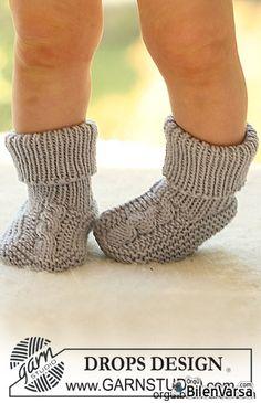 Bebek İçin Örgü Çorap Örneği