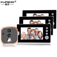 2017 New Hot sale 7 Inch Peephole Clearly Color Screen Door Intercom Doorbell Night Vision Security Camera 1v3 FREE SHIPPING -*- AliExpress Affiliate's buyable pin. Find out more on www.aliexpress.com by clicking the image