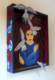 Mixed media painting 'Peace' by Leighann Randle.