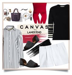 """""""Paint Your Look With Canvas by Lands' End: Contest Entry"""" by judysingley-polyvore ❤ liked on Polyvore featuring Lands' End and Canvas by Lands' End"""