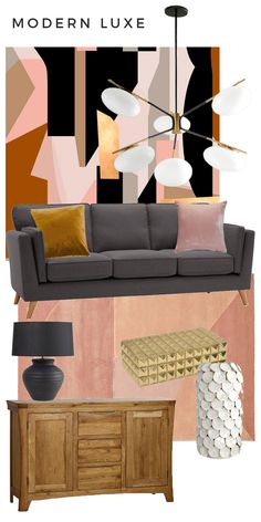 How to Style the Cooper Sofa by Kimberly Duran Home Bedroom, Home Living Room, Charcoal Bedroom, Scandinavian Home Interiors, Oak Furniture Land, Accent Wall Bedroom, Graphic Patterns, Beautiful Interiors, Wall Murals
