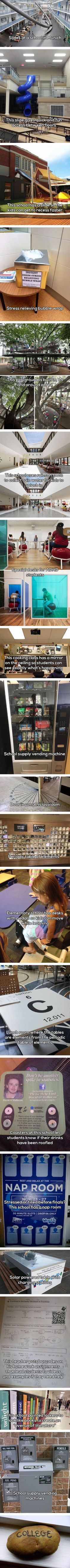 I will not skip any classes if my school got these brilliant inventions - 9GAG