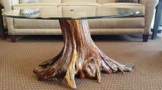 Unique Tree Stump Coffee Table Designs