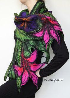 Szal#scarf#filcowanie#felting