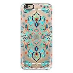 iPhone 6 Plus/6/5/5s/5c Case - Boho Folk Art on Transparent ($40) ❤ liked on Polyvore featuring accessories, tech accessories, iphone case, slim iphone case, transparent iphone case, apple iphone cases and iphone cover case