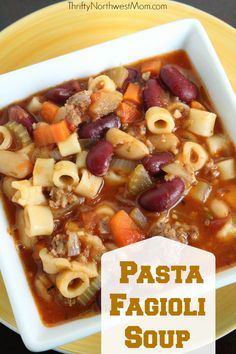 Try out our Pasta Fagioli Soup recipe - it's a Copycat Olive Garden recipe & so filling!