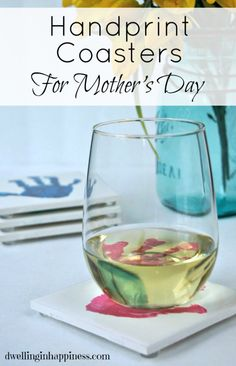 DIY Handprint Coasters for Mother's Day - Dwelling In Happiness