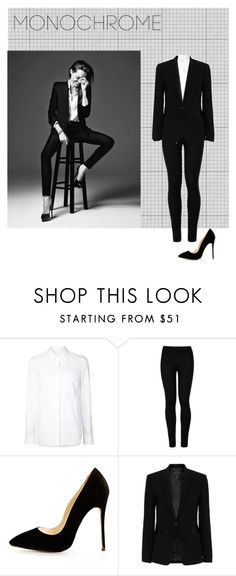"""Untitled #639"" by aidynlevin ❤ liked on Polyvore featuring Alexander Wang, Wolford, rag & bone and monochrome"