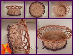 Basketry work dyed with brush