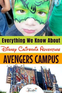Avengers Campus is coming to Disney California Adventure, summer Find out everything we know so far about this Marvel inspired Land including dining, attractions, characters and whether it's going to be kid-friendly. Disney California Adventure Park, Disneyland California, California Travel, Disneyland Food, Disneyland Resort, Toddler Disneyland, Disney Tips, Disney Parks, Avengers Headquarters