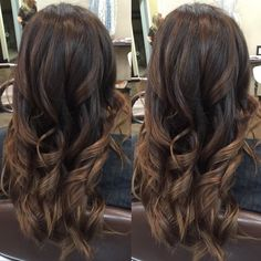 The final result of this hair transformation! Using clear of Redkens Shades EQ for a rich & warm brown. by mjfsalon Color Your Hair, Hair Color And Cut, Hair Color Dark, Brown Hair Colors, Fall Winter Hair Color, Redken Hair Products, Hair Color Formulas, Chocolate Brown Hair Color, Hair Shades