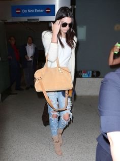 Kendall Jenner Lands at LAX Airport