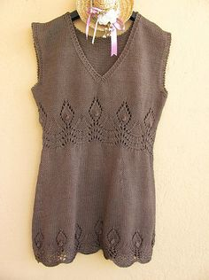 dress  or top Summer!!! FREE pattern: Go to http://pinterest.com/DUTCHYLADY/share-the-best-free-patterns-to-knit/ for more than 1500 FREE patterns to KNIT