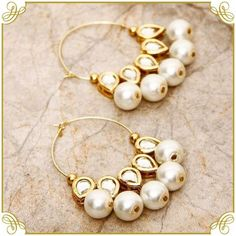 Designed with Sterling Pearls and Stones, these Dazzling Earrings are an ideal pick to brighten up your overall look. Shop Kundan Earrings, Neckpieces, Rings, Maang Tikka and much more at the best prices on Kraftly. Indian Wedding Jewelry, Bridal Jewelry, India Jewelry, Beach Jewellery, Ethnic Jewelry, Gold Jewellery, Silver Jewelry, Bijoux Diy, Schmuck Design