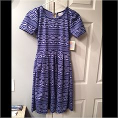 {Lularoe} Amelia NWT! Brand new with tags! Blue Aztec design. Size XS. LuLaRoe Dresses