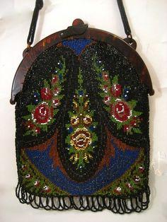 Vintage-Antique-Purse-Bag-Victorian-Celluloid-Handbag