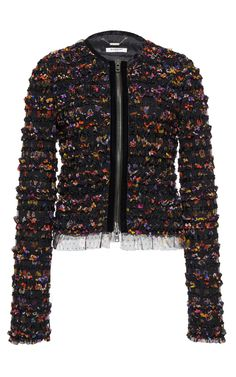 Night Pansies Tulle Jacket by GIVENCHY for Preorder on Moda Operandi