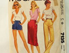 Vintage 1980s Sewing Pattern McCall's 7135 by Old2NewMemories, $5.00