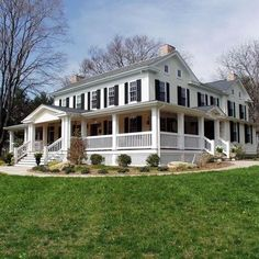 My dream house. White with black shutters and a wrap around porch. *sigh*