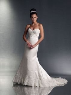 Sirène sweetheart de mariage robe en satin