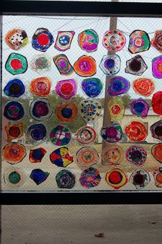 MNPS Chihuly Art Lessons - PLASTIC BOWLS MELTED IN OVEN FOR 1 MINUTE AT 350 DEGREES & COLORED WITH PERMANENT MARKER