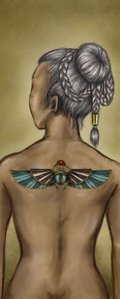 I've been thinking of what I can cover an existing tattoo with--in almost the same spot as this. Egyptian Scarab is PERFECT. I've been obsessed with ancient Egypt my whole life, yay!
