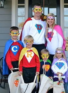 family super hero halloween costumes | Superhero family