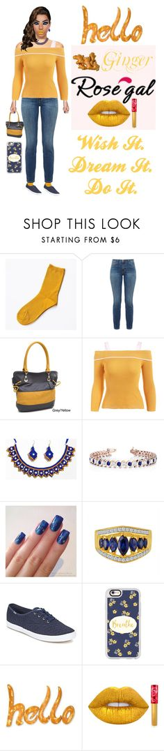 """""""Ginger RoseGal"""" by pinky-dee ❤ liked on Polyvore featuring Current/Elliott, Dasein, Allurez, Keds, Casetify, NOVICA and Lime Crime"""