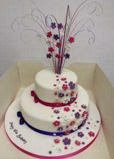 60th Birthday Cake More Elegant Cakes 70th Homemade