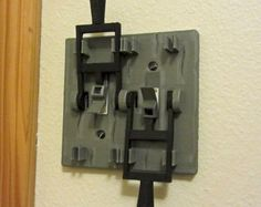 Frankenstein style dual light switch plate! Turn your room into a horror movie mad scientist lab!