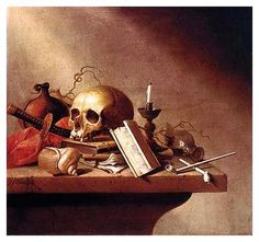 'Vanitas', 1640 (oil on wood panel)