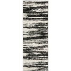 "Amazon.com - Safavieh Retro Collection RET2693-8479 Dark Grey and Light Grey Runner Area Rug, 2 feet 3 inches by 7 feet (2'3"" x 7') - Area Rugs"