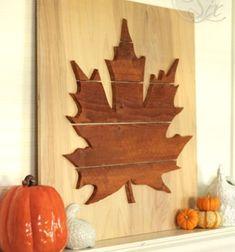 ❤ Őszi faleveles dekoráció fából (falikép) ❤Mindy -  kreatív ötletek és dekorációk minden napra