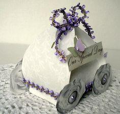 Cinderella Coach wedding favor tutorial. Using this template: http://shop.thedigitalpress.co/Puff-Box.html