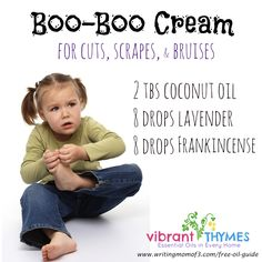 Natural Care for cuts, scrapes, and bruises with essential oils | essential oil recipes
