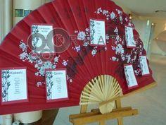Faire part ventail th me cerisier du japon for Table design japon